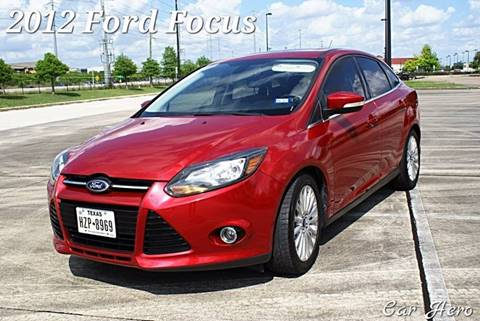 2012 Ford Focus for sale at CAR HERO LLC in Houston TX