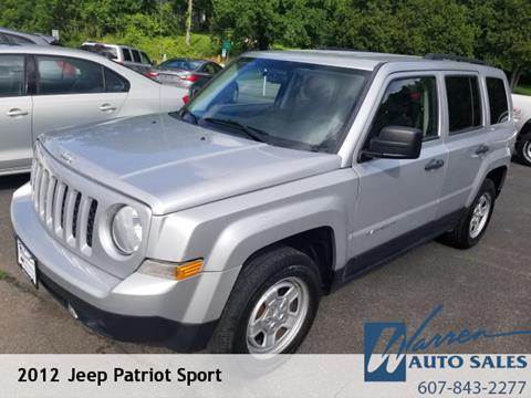 2012 Jeep Patriot for sale in Oxford, NY