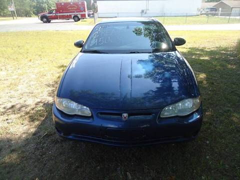 2003 Chevrolet Monte Carlo for sale at Clark Automotive in Lake Ann MI