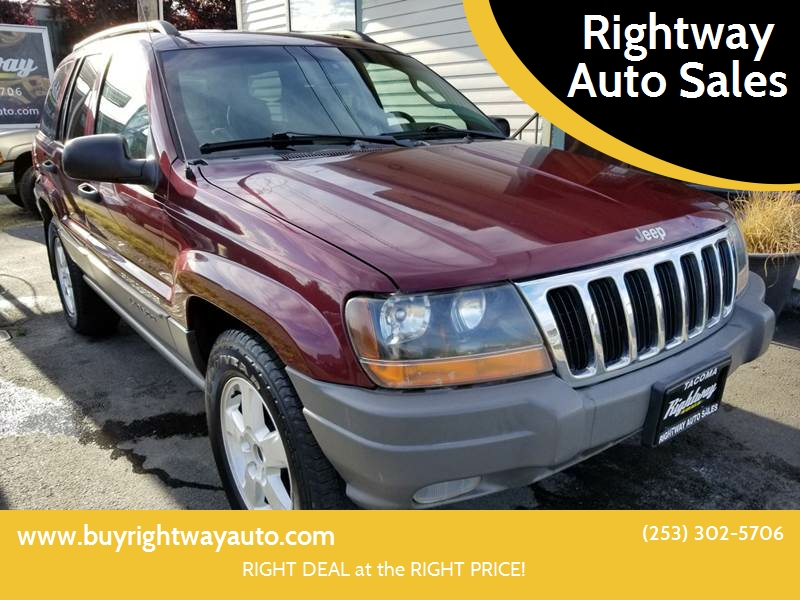 2002 Jeep Grand Cherokee For Sale At Rightway Auto Sales In Tacoma WA