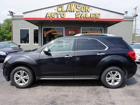 2011 Chevrolet Equinox for sale at Clawson Auto Sales in Clawson MI