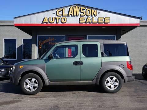 2003 Honda Element for sale at Clawson Auto Sales in Clawson MI