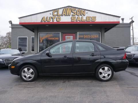 2007 Ford Focus for sale at Clawson Auto Sales in Clawson MI