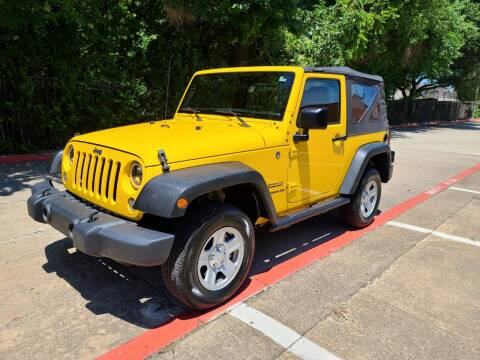 2015 Jeep Wrangler for sale at DFW Autohaus in Dallas TX