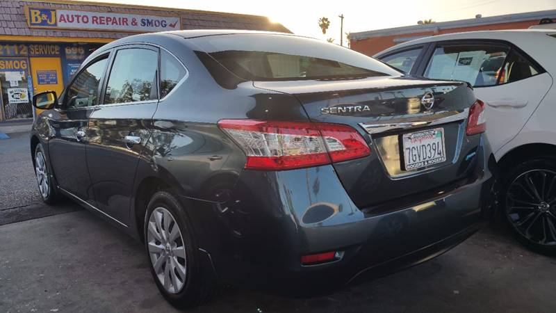 2014 Nissan Sentra for sale at B & J Auto Sales in Chula Vista CA