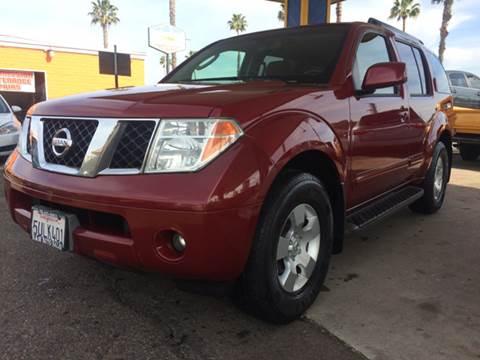 2006 Nissan Pathfinder for sale at B & J Auto Sales in Chula Vista CA