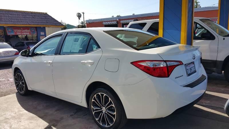 2015 Toyota Corolla for sale at B & J Auto Sales in Chula Vista CA
