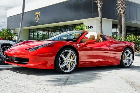 2014 Ferrari 458 Spider For Sale In West Palm Beach, FL