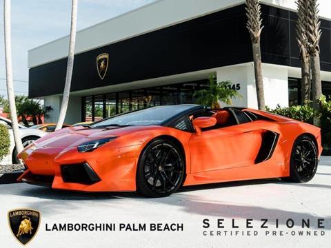 2016 Lamborghini Aventador For Sale In West Palm Beach Fl