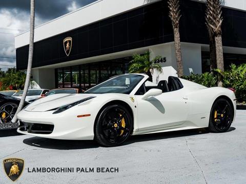 2015 Ferrari 458 Spider for sale in West Palm Beach, FL