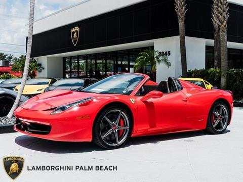 2013 Ferrari 458 Spider for sale in West Palm Beach, FL