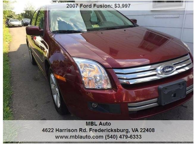 Ford Fusion V SE In Fredericksburg VA MBL Auto - 2007 fusion