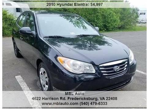 2010 Hyundai Elantra for sale in Fredericksburg, VA