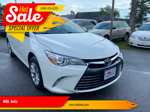 2015 Toyota Camry for sale at MBL Auto in Fredericksburg VA