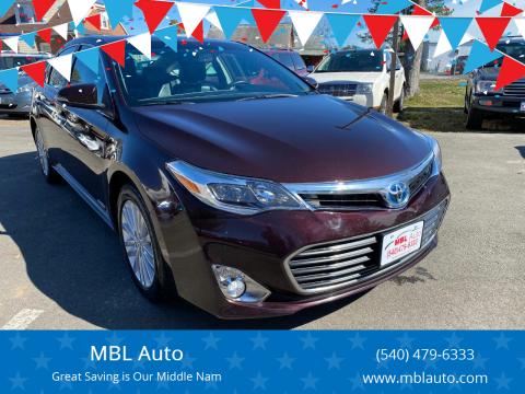 2013 Toyota Avalon Hybrid for sale at MBL Auto in Fredericksburg VA