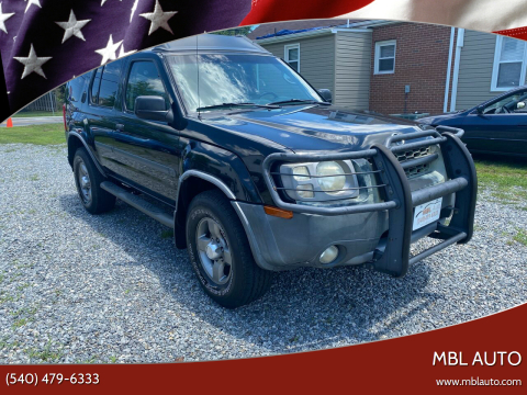 2003 Nissan Xterra for sale at MBL Auto in Fredericksburg VA