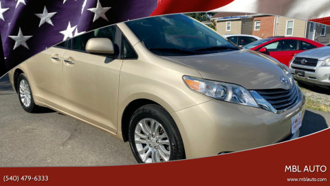 2011 Toyota Sienna for sale at MBL Auto Woodford in Woodford VA