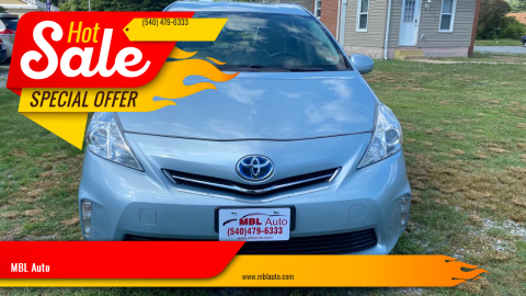 2014 Toyota Prius v for sale at MBL Auto Woodford in Woodford VA