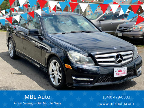 2013 Mercedes-Benz C-Class for sale at MBL Auto Woodford in Woodford VA