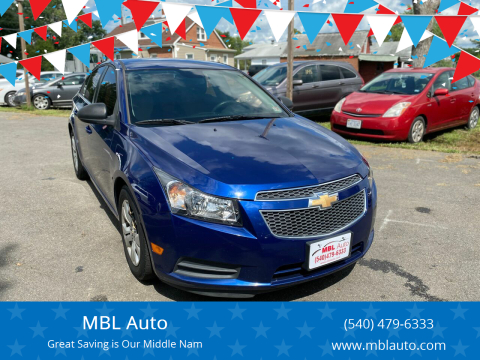2012 Chevrolet Cruze for sale at MBL Auto Woodford in Woodford VA