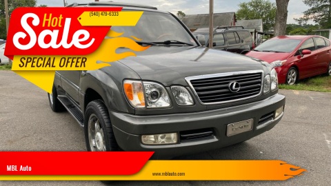 2000 Lexus LX 470 for sale at MBL Auto in Fredericksburg VA