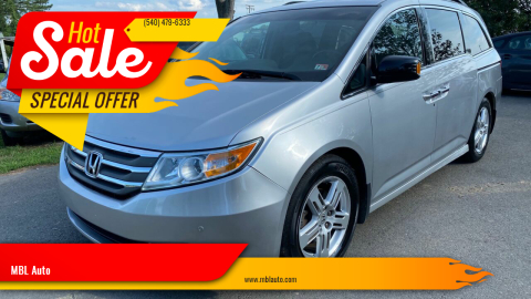 2012 Honda Odyssey for sale at MBL Auto in Fredericksburg VA