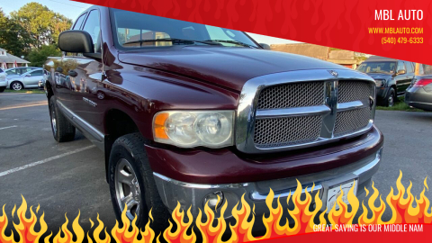 2002 Dodge Ram Pickup 1500 for sale at MBL Auto Woodford in Woodford VA