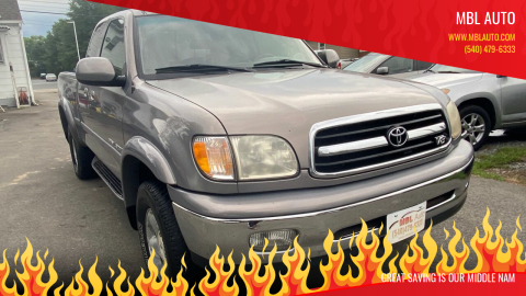 2000 Toyota Tundra for sale at MBL Auto Woodford in Woodford VA