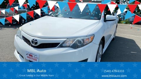 2012 Toyota Camry for sale at MBL Auto in Fredericksburg VA