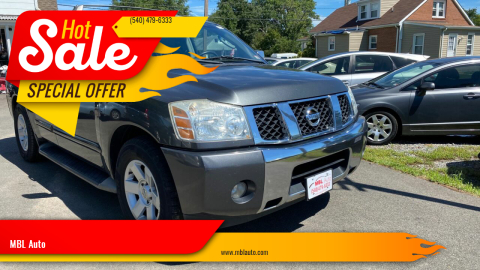 2004 Nissan Armada for sale at MBL Auto in Fredericksburg VA