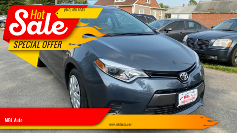 2015 Toyota Corolla for sale at MBL Auto in Fredericksburg VA
