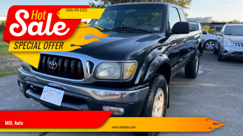 2002 Toyota Tacoma for sale at MBL Auto in Fredericksburg VA