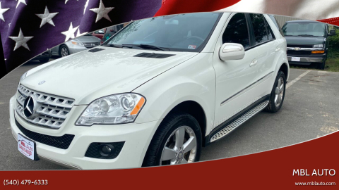 2009 Mercedes-Benz M-Class for sale at MBL Auto in Fredericksburg VA