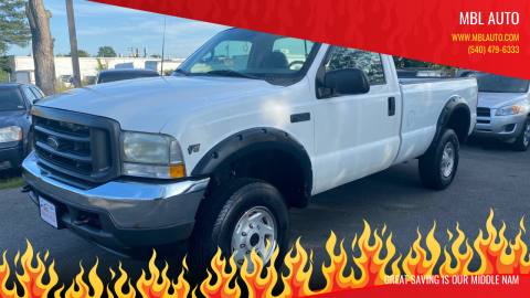 2002 Ford F-250 Super Duty for sale at MBL Auto in Fredericksburg VA