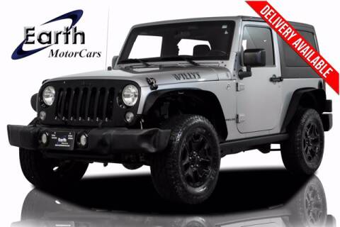 2015 Jeep Wrangler for sale at EARTH MOTOR CARS in Carrollton TX