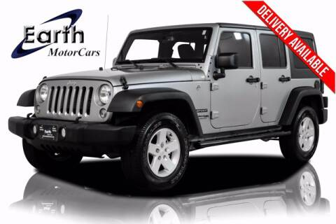 2018 Jeep Wrangler JK Unlimited for sale at EARTH MOTOR CARS in Carrollton TX