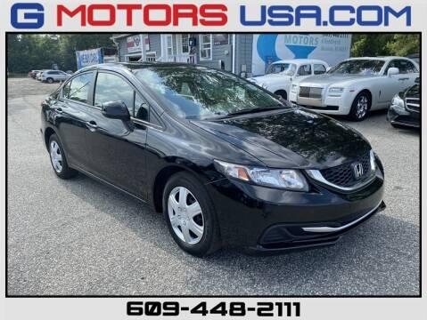 2013 Honda Civic for sale at G Motors in Monroe NJ