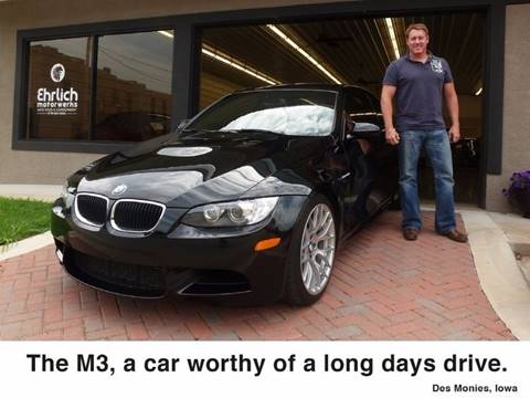 2011 BMW M3 for sale at Ehrlich Motorwerks in Siloam Springs AR