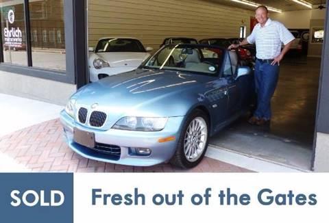 2001 BMW Z3 for sale at Ehrlich Motorwerks in Siloam Springs AR