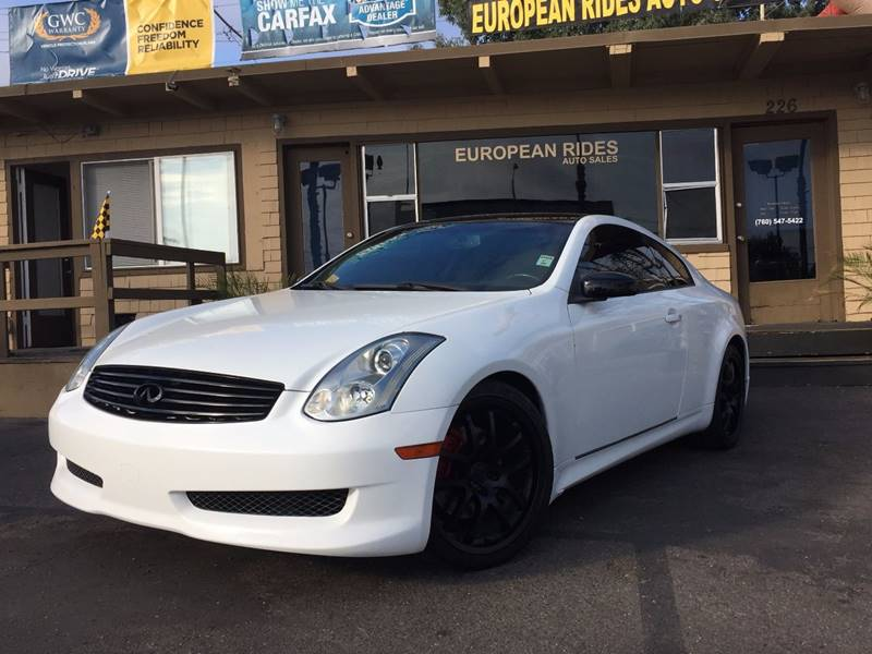 2007 Infiniti G35 for sale at European Rides Auto Sales in Oceanside CA