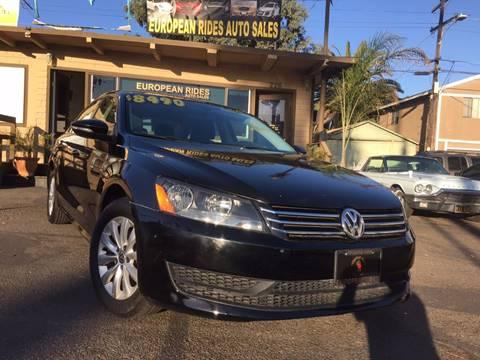 2012 Volkswagen Passat for sale at European Rides Auto Sales in Oceanside CA