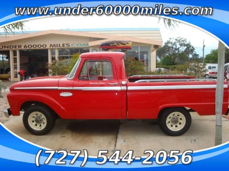 1963 ford f 100 in st petersburg fl under 60000 miles. Black Bedroom Furniture Sets. Home Design Ideas