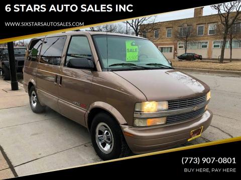 2002 Chevrolet Astro for sale at 6 STARS AUTO SALES INC in Chicago IL