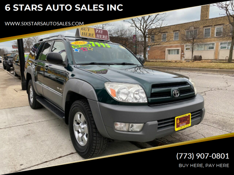 2003 Toyota 4Runner for sale at 6 STARS AUTO SALES INC in Chicago IL