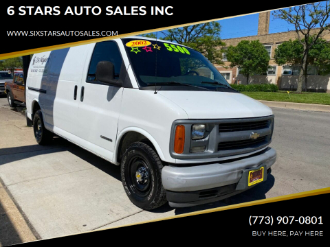 2002 Chevrolet Express Cargo for sale at 6 STARS AUTO SALES INC in Chicago IL