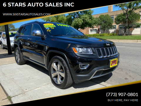2014 Jeep Grand Cherokee for sale at 6 STARS AUTO SALES INC in Chicago IL