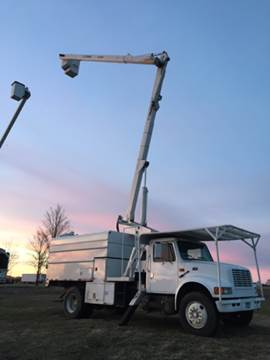 2000 International High Lift Bucket Tree Truck 65ft Boom Lift for sale in Becker, MN