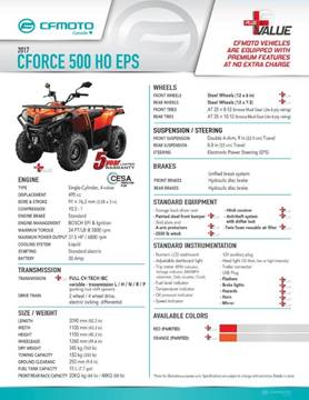 2017 CF Moto C-FORCE 500 HO EPS 1UP