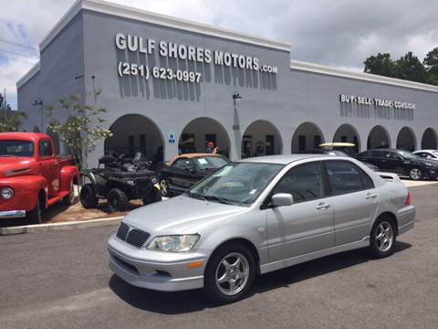 2002 Mitsubishi Lancer for sale at Gulf Shores Motors in Gulf Shores AL