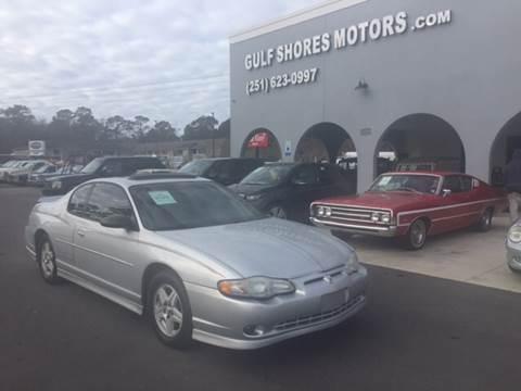 2002 Chevrolet Monte Carlo for sale at Gulf Shores Motors in Gulf Shores AL